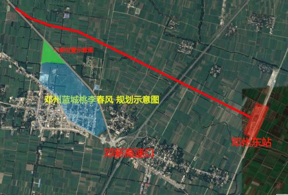 邓州蓝城桃李春风规划示意图