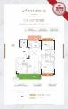 YJ125户型, 3室2厅2卫1厨, 建筑面积约124.62平米